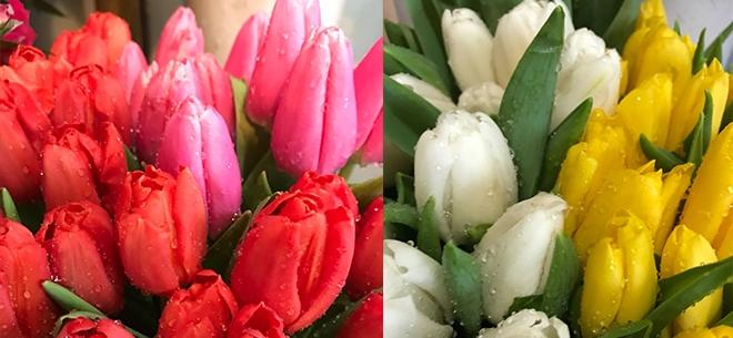 Букет на 8 марта из тюльпанов 30 штук как оформлять — photo 1